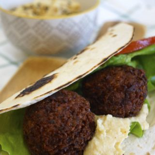 Crispy Falafel are great in a pita with some homemade hummus