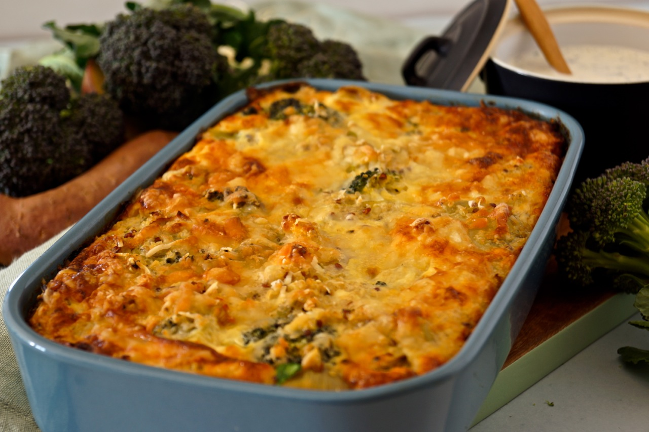 Hearty Quinoa Bake right out of the oven