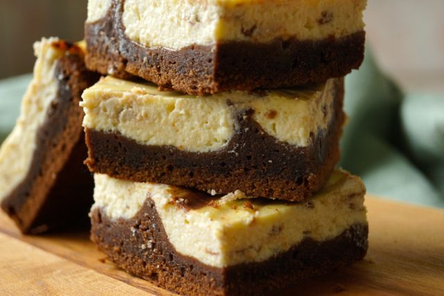 Stacked Cheesecake Brownies