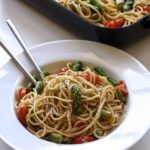 Simple Roasted Tomato & Asparagus Pasta