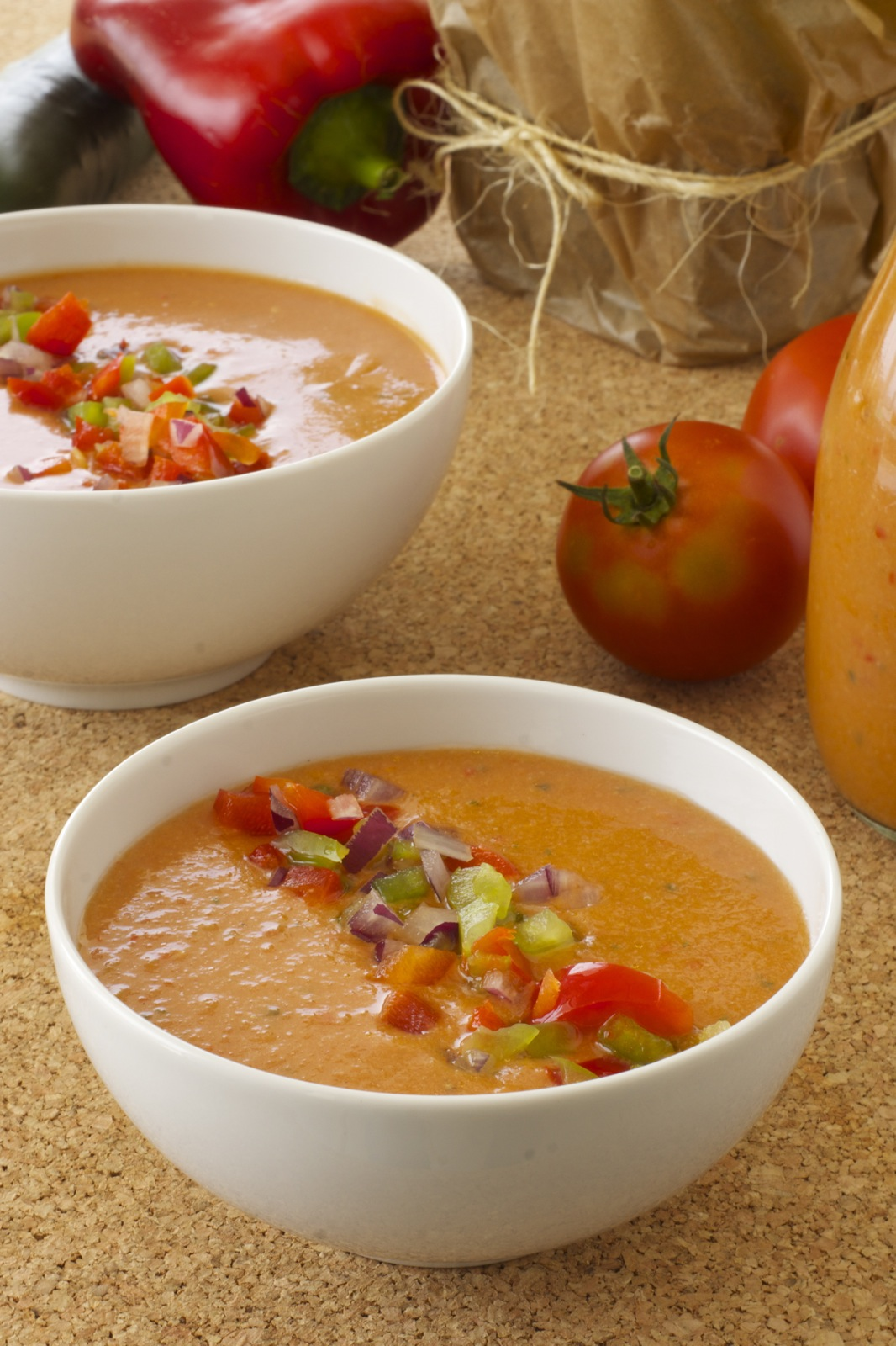 Chilled Gazpacho for hot summer days #vegan #raw