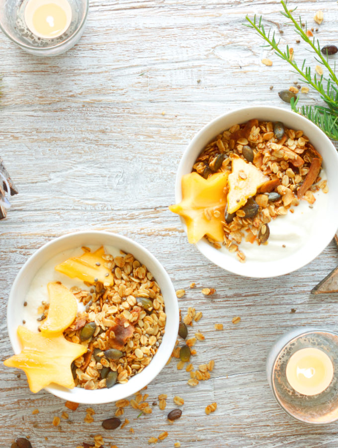 Simple Coconut & Pumpkin Granola #vegan #gf #refinedsugarfree