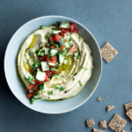 Everyday heavenly hummus with crackers