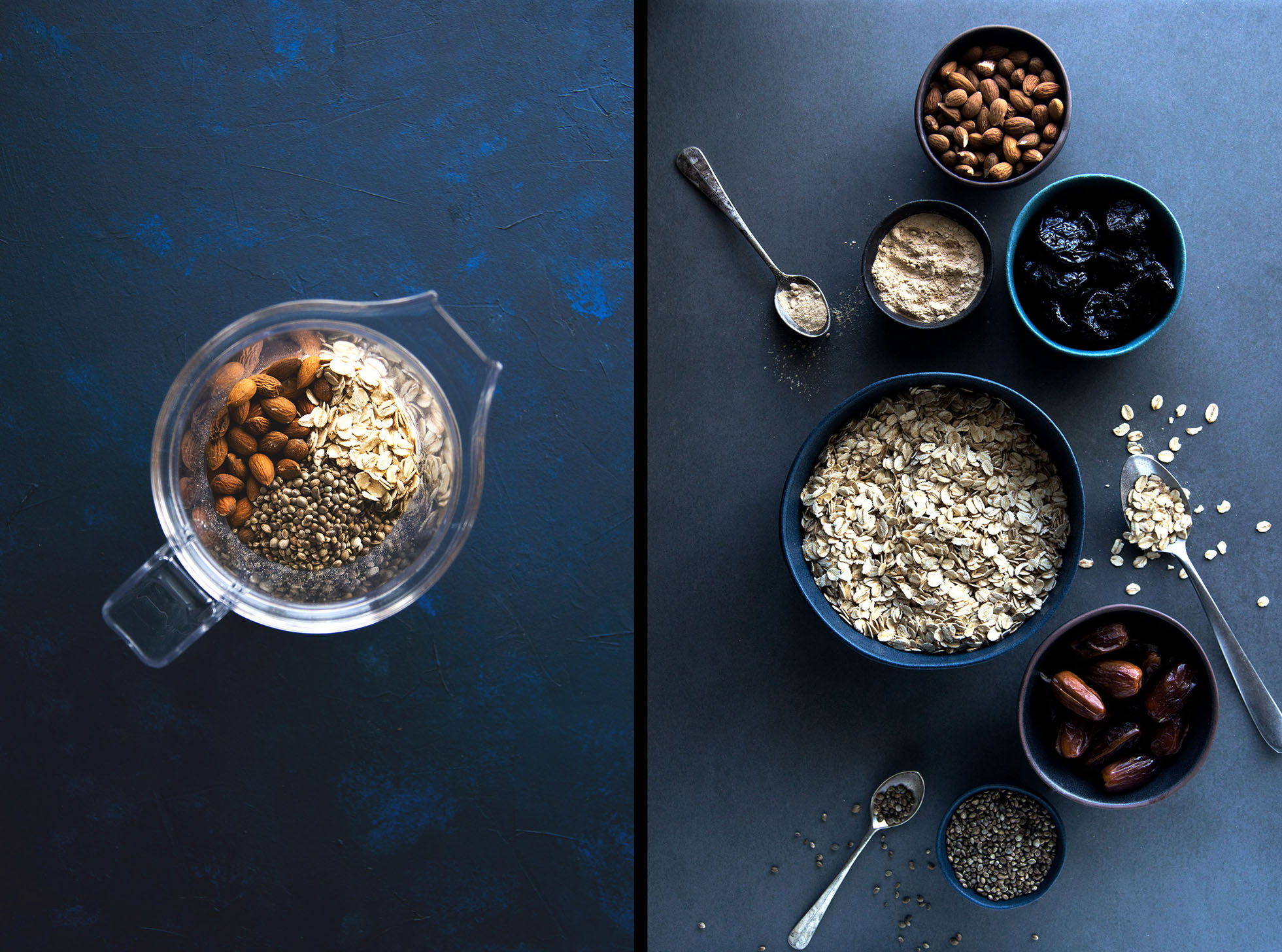 Ingredients for the Superfood Energy Bliss Balls