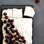 Cherry Hazelnut Sheet Cake & some exciting news!