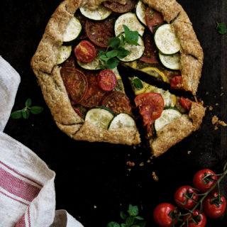 Summer Tomato Zucchini Galette (Vegan)