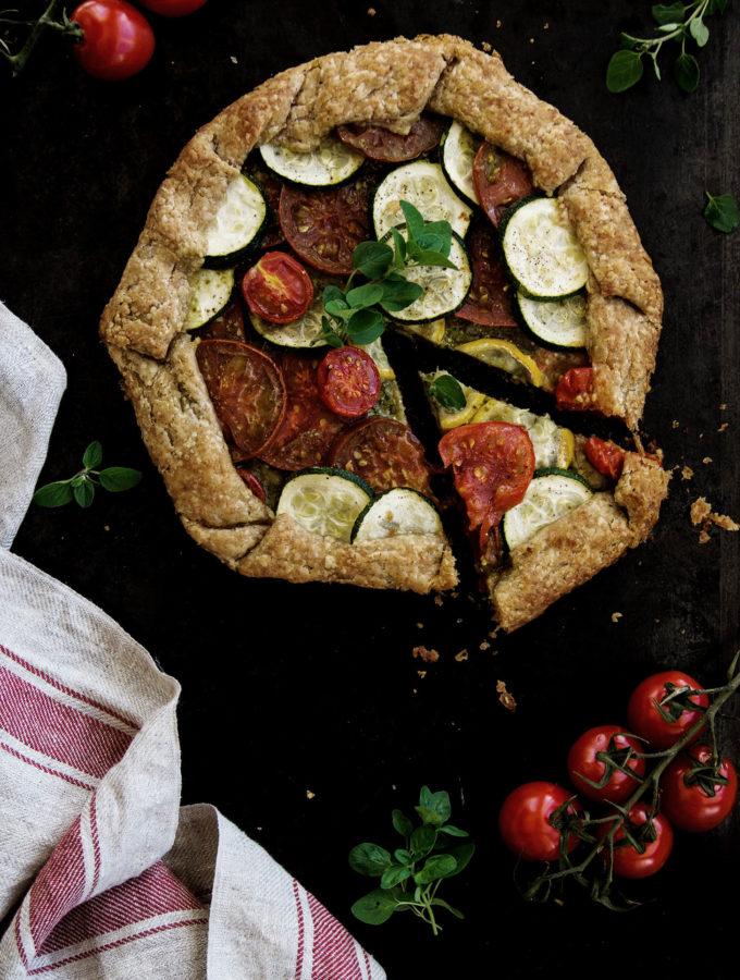 Vegan Summer Tomato & Zucchini Galette