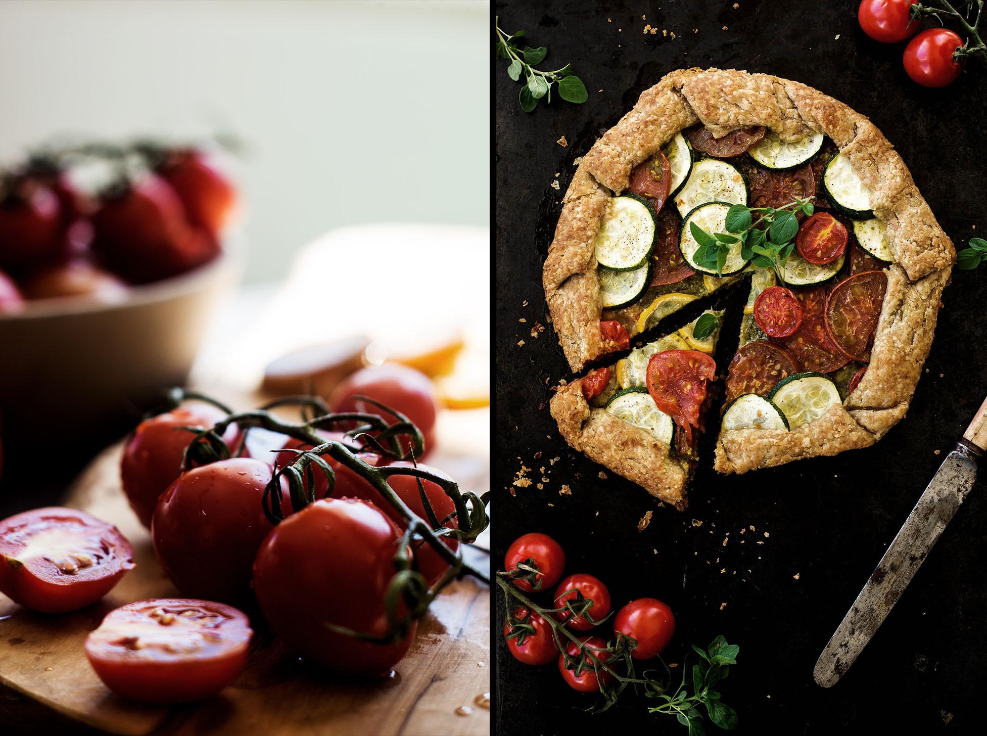 Summer Tomato Zucchini Galette