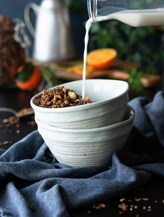 Healthy Chocolate Orange Hazelnut Granola