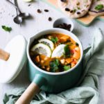 Vegan Sweet Potato Stew with Chickpeas and Kale