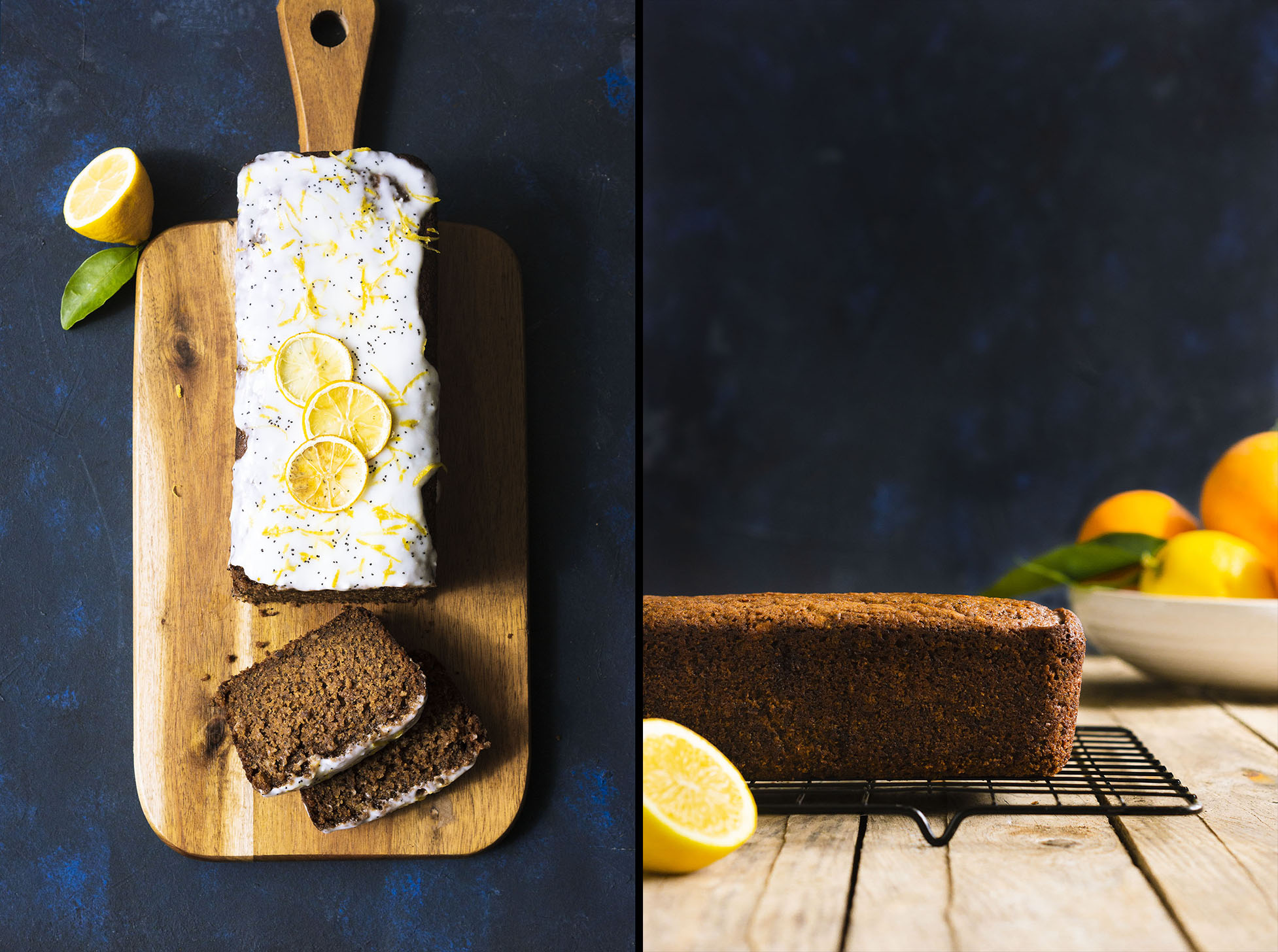 Citrus Poppyseed Loaf Cake with Yoghurt Drizzle