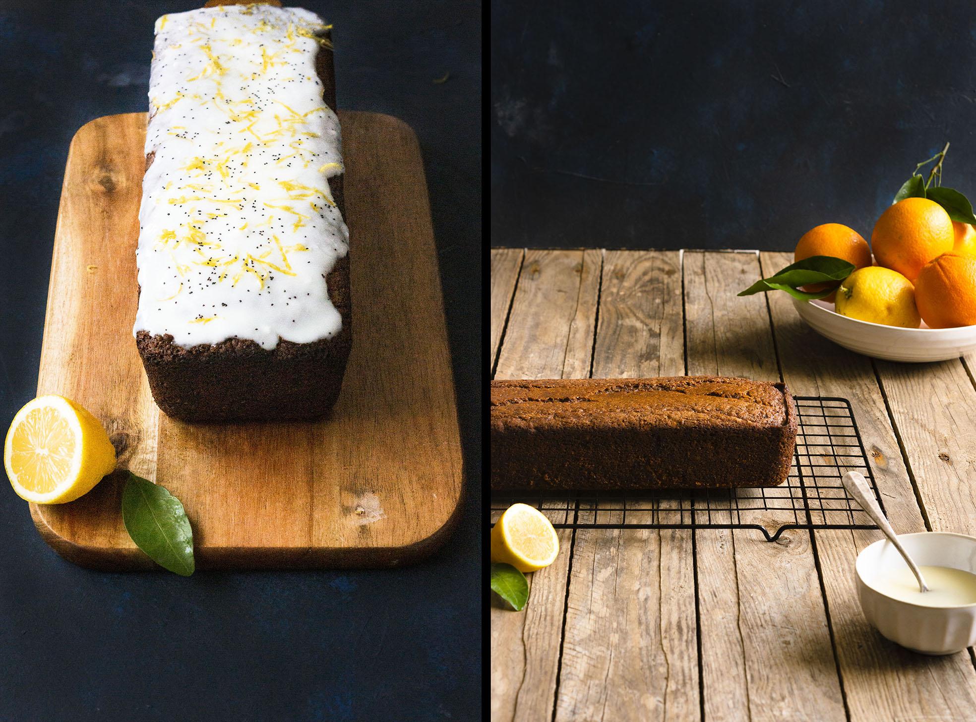 Citrus Poppyseed Loaf Cake (vegan)
