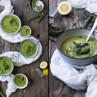 Green Asparagus Soup for cool spring days