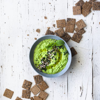 Simple Pea Hummus & a new blog category!