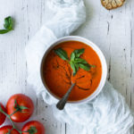 Garlicky Roasted Bell Pepper & Tomato Soup – and a farewell to summer!