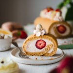Strawberry White Chocolate Swiss Roll