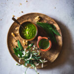 Foraged wild garlic pesto