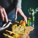 Swirled Wild Garlic Pesto Bread (vegan)