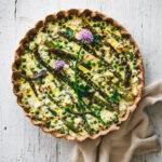 Asparagus & Green Pea Quiche
