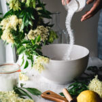 Sugar, water & Elderflower blossoms make the most delicious syrup