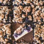 Cinnamon Blueberry Crumb Bars